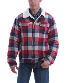 Cinch Men's Multi Plaid Sherpa Lined Trucker Jacket, Multi, hi-res