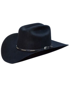 Silverado Men's Black Calvin Satin Lined Wool Felt Western Hat , Purple, hi-res