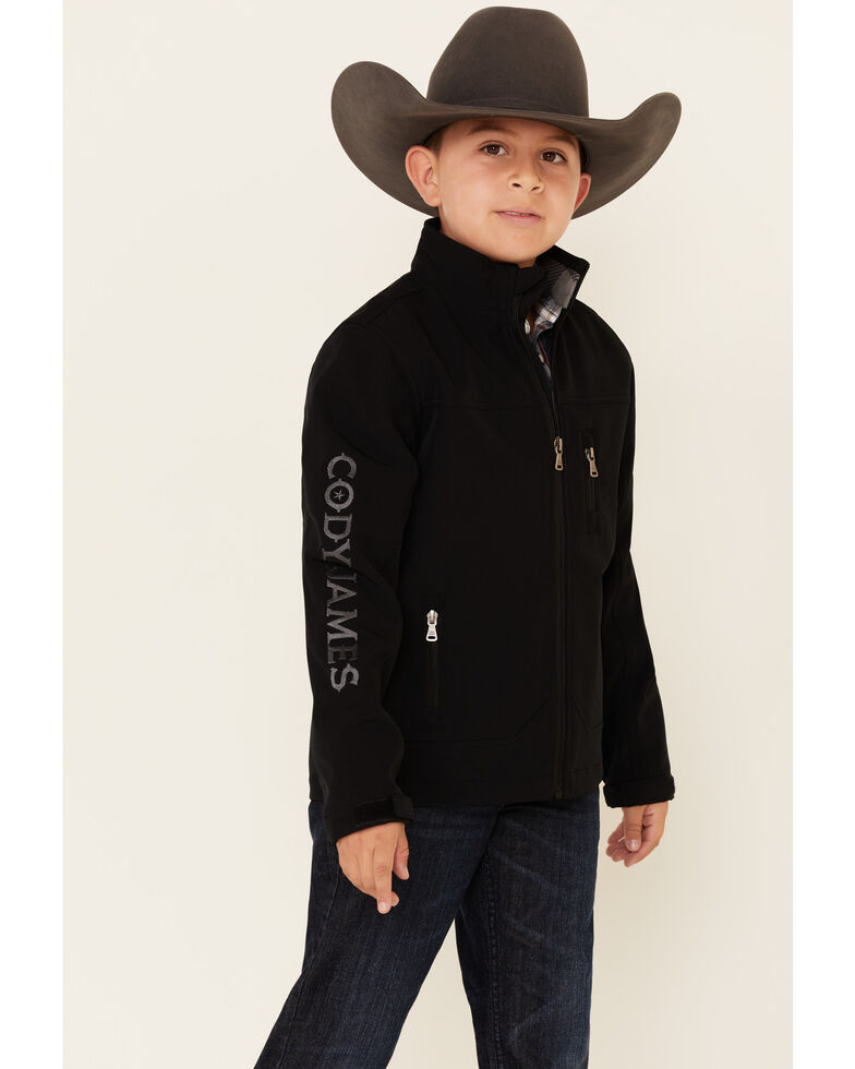 Cody James Boys' Black Embroidered Steamboat Softshell Bonded Jacket , Black, hi-res
