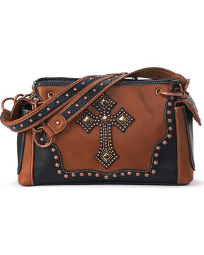 Blazin Roxx Women's Delilah Cross Satchel Bag , Rust Copper, hi-res