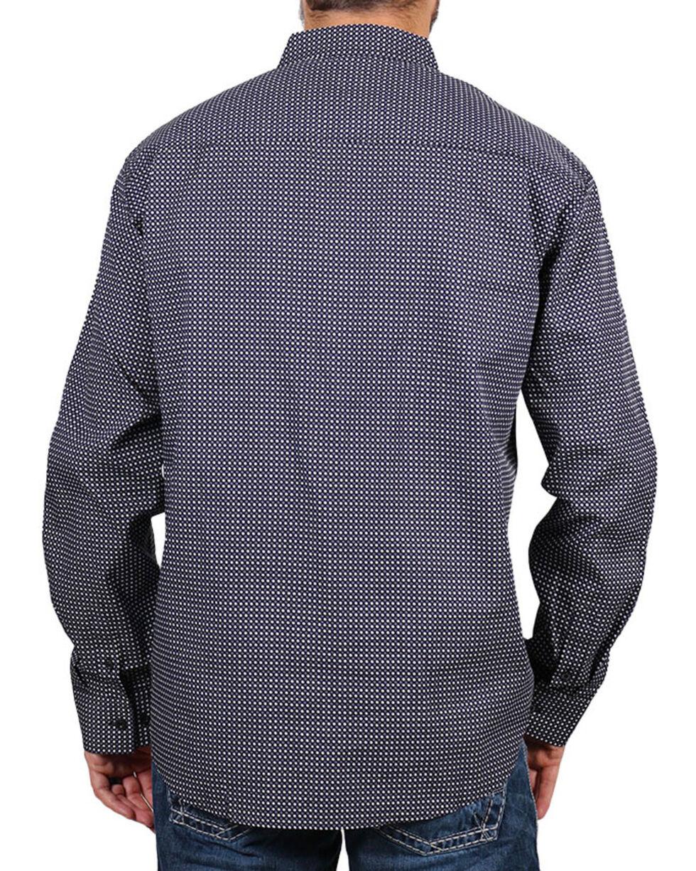 Cody James Men's MGM Geo Print Long Sleeve Western Shirt, Black, hi-res