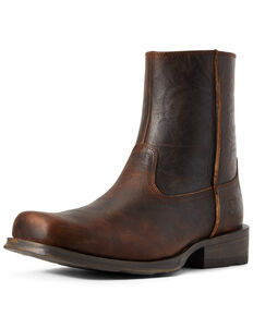 Ariat Men's Western Rambler Boots - Square Toe, Brown, hi-res
