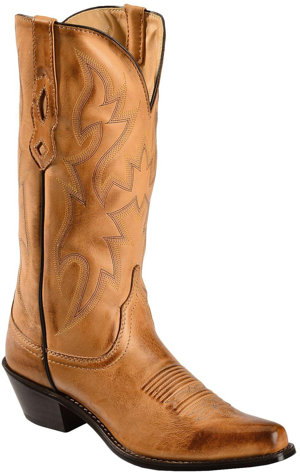 Nocona Deertan Cowgirl Boots - Snip Toe, Tan, hi-res