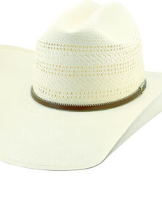 Larry Mahan Men's 10X Latigo Vent Crown Western Straw Hat , Ivory, hi-res