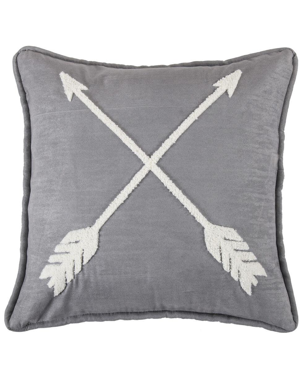 HiEnd Accents Free Spirit Arrow Pillow, Grey, hi-res