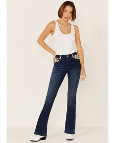 Ranch Dress'n Women's Medium Wash Cattle Drive Bootcut Jeans , Blue, hi-res