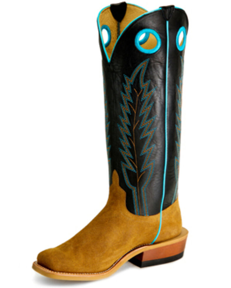 Horse Power Men's Sawdust Western Boots - Wide Square Toe, Brown, hi-res