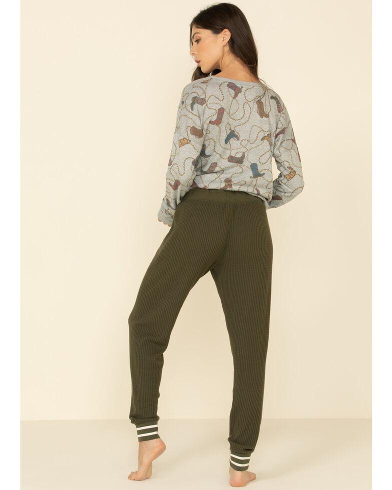 PJ Salvage Women's Olive Thermal Sweatpants, Olive, hi-res