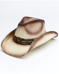 Cody James Men's Tan Topaz Toyo Straw Western Hat , Tan, hi-res