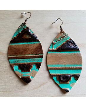 Jewelry Junkie Women's Tribal Leather Earrings, Multi, hi-res