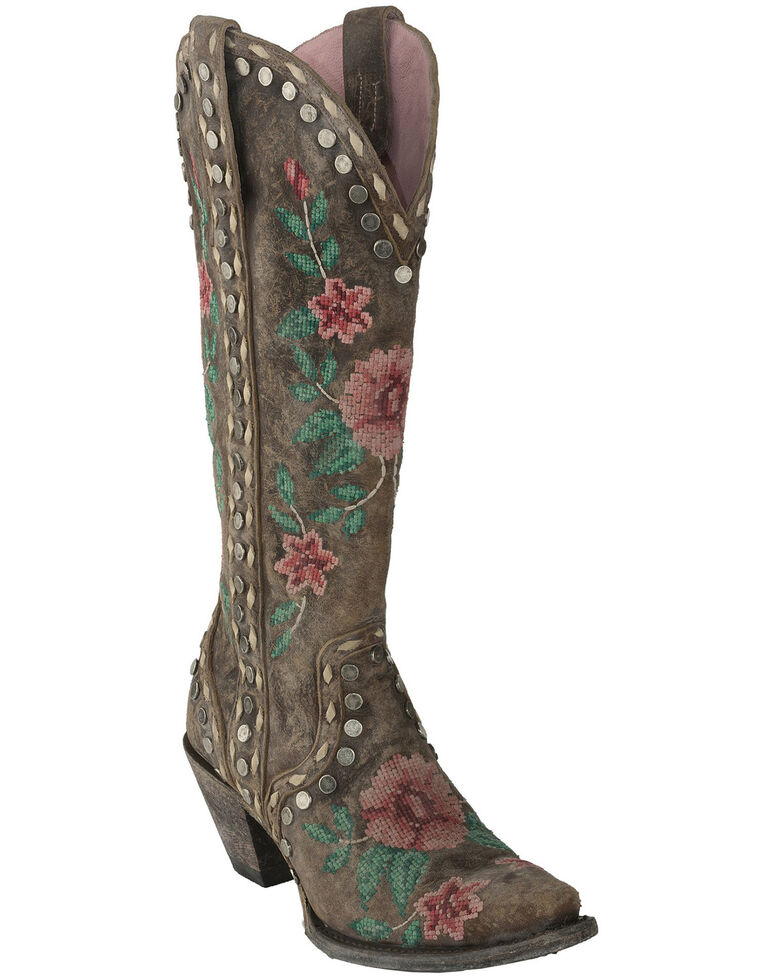Junk Gypsy by Lane Women's Wild Stitch Western Boots - Snip Toe, Brown, hi-res