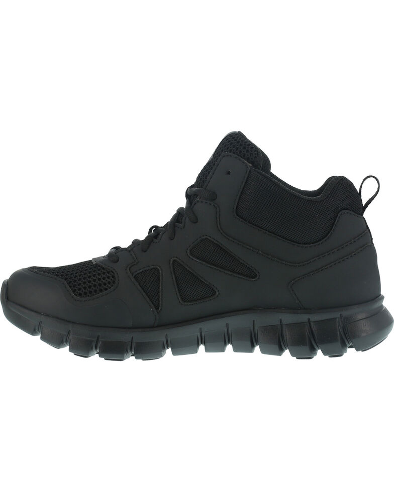 Reebok Men's Sublite Cushion Tactical Mid Shoes - Soft Toe , Black, hi-res