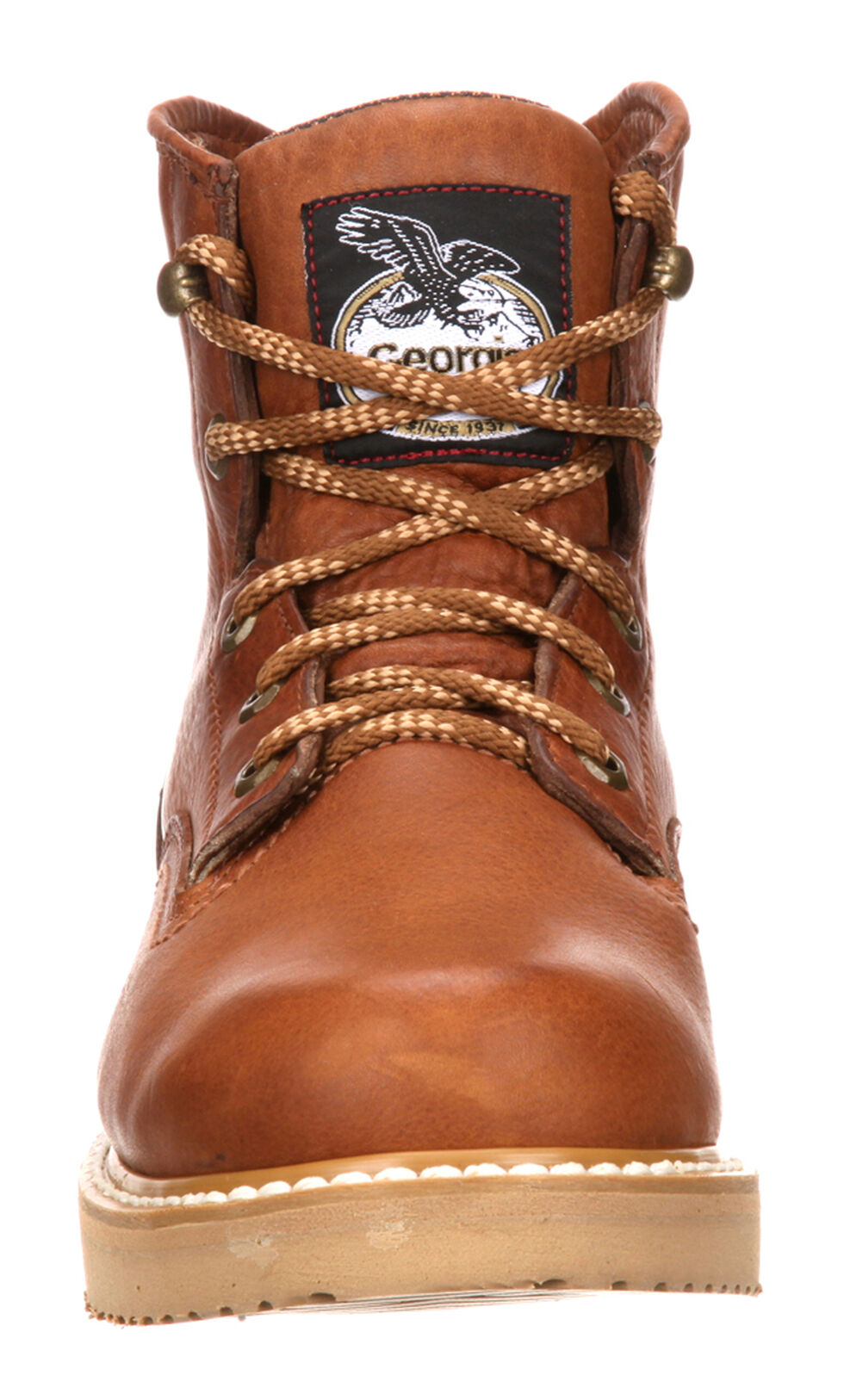 "Georgia Men's 6"" Barracuda Gold Wedge Work Boots, Gold, hi-res"
