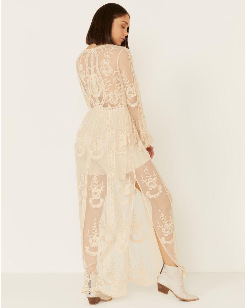 Wishlist Women's Black Lace Maxi Dress, Natural, hi-res