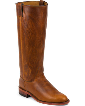 Chippewa Women's Renegade Original Roper Boots - Round Toe, Tan, hi-res