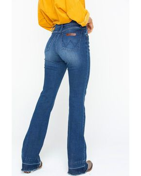 Wrangler Women's High Rise Exaggerated Boot Cut Jeans, Blue, hi-res