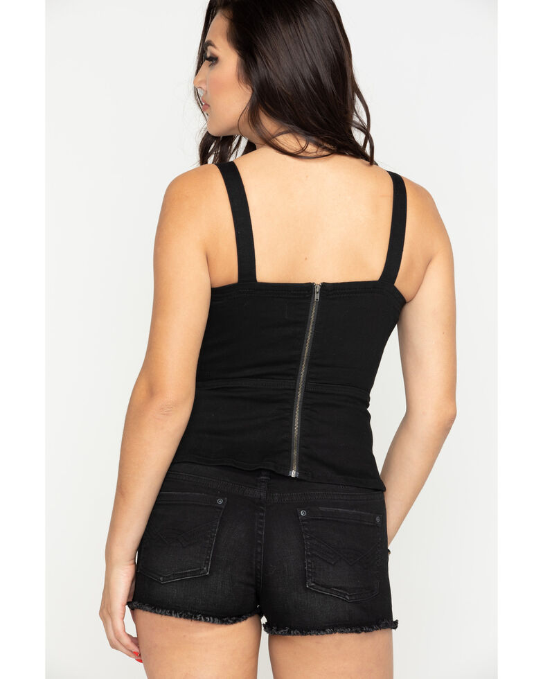 Idyllwind Women's Fire Igniter Corset Top , Black, hi-res