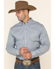 Cody James Core Men's Corpus Small Geo Print Long Sleeve Western Shirt , Medium Blue, hi-res
