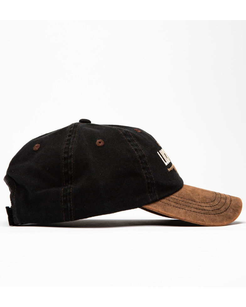 Cody James Men's Lucky Draw Embroidered Ball Cap , Black/brown, hi-res