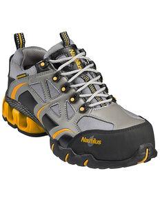Nautilus Men's Nylon Microfiber Athletic Work Shoes - Composite Toe, Grey, hi-res