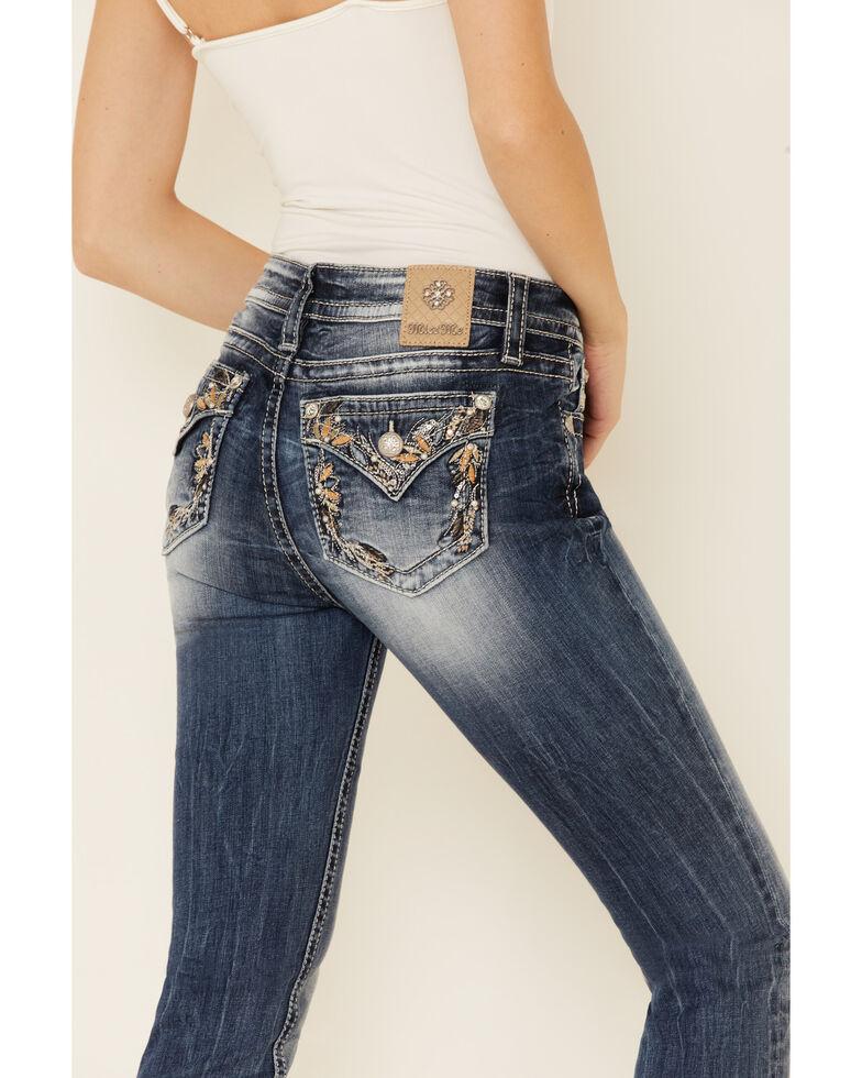 Miss Me Women's Flowering Organic Leaves Hailey Skinny Jeans, Blue, hi-res