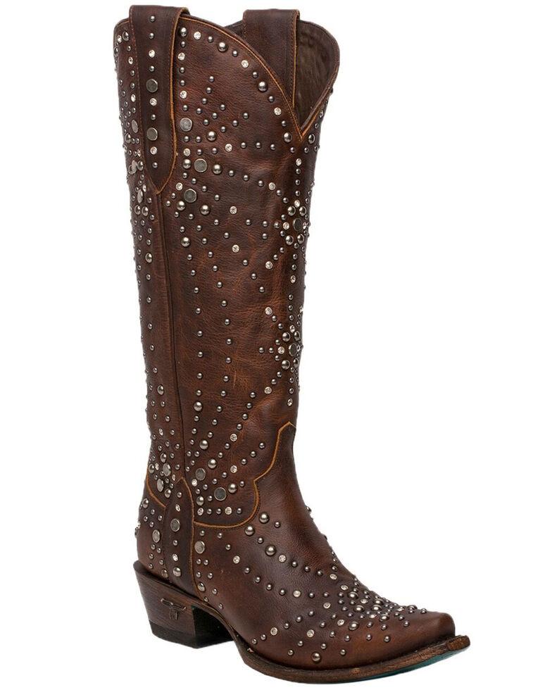 Lane Women's Sparks Fly Western Boots - Snip Toe, Cognac, hi-res