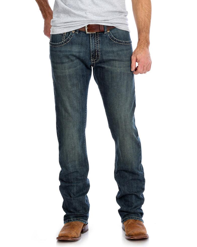 Rock 47 By Wrangler Men's Back Up Stretch Slim Straight Jeans , Blue, hi-res