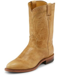 Justin Men's Brock Golden Western Boots - Round Toe, Tan, hi-res