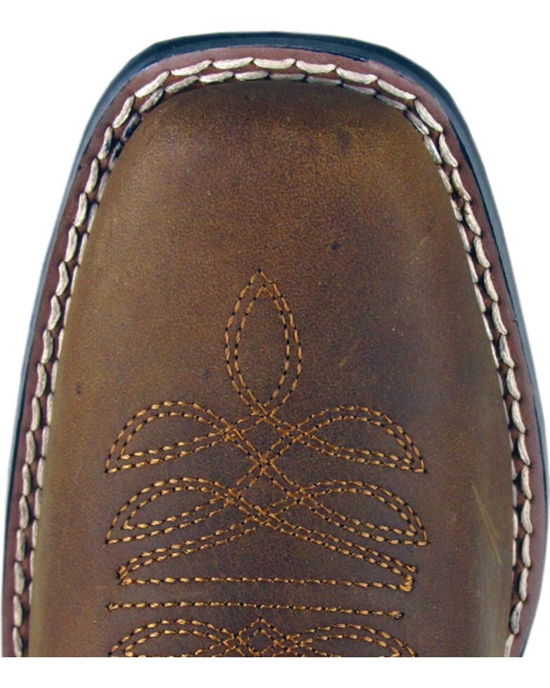 Smoky Mountain Lariat Cowgirl Boots - Square Toe, Brown, hi-res
