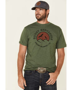 HOOey Men's Olive Spring Branch Graphic T-Shirt , Olive, hi-res