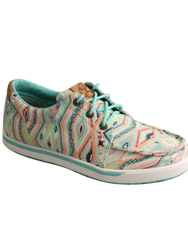 Twisted X Women's Light Blue Loper Shoes - Moc Toe, Light Blue, hi-res