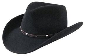 Wind River by Bailey Rider Black Western Hat, Black, hi-res