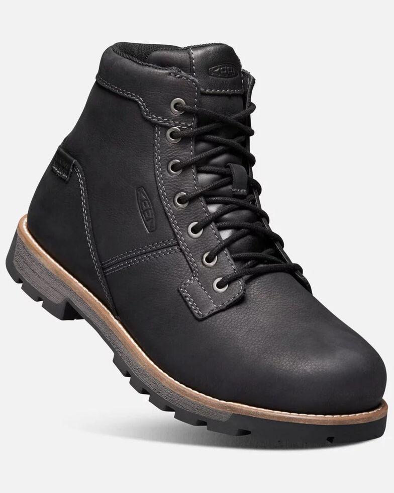 Keen Men's Seattle Waterproof Lace-Up Work Boots - Aluminum Toe, Brown, hi-res