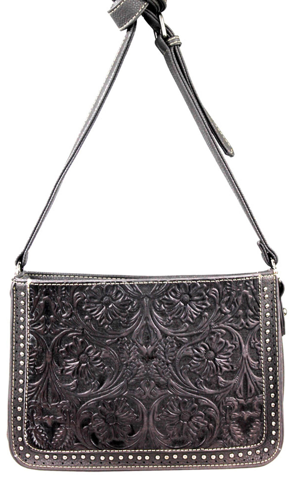 Montana West Trinity Ranch Tooled Design Collection Messenger Bag, , hi-res