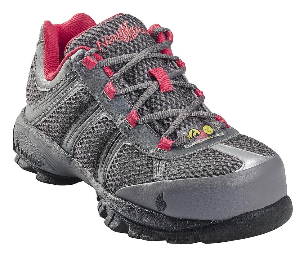 Nautilus Women's ESD Athletic Work Shoes - Steel Toe, Grey, hi-res