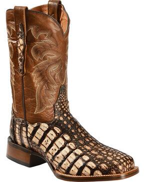 Dan Post Camel Everglades Caiman Cowboy Boots - Square Toe, Camel, hi-res