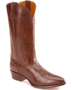 Nocona Men's Imperial Calfskin Cowboy Boots - Medium Toe, Black Cherry, hi-res