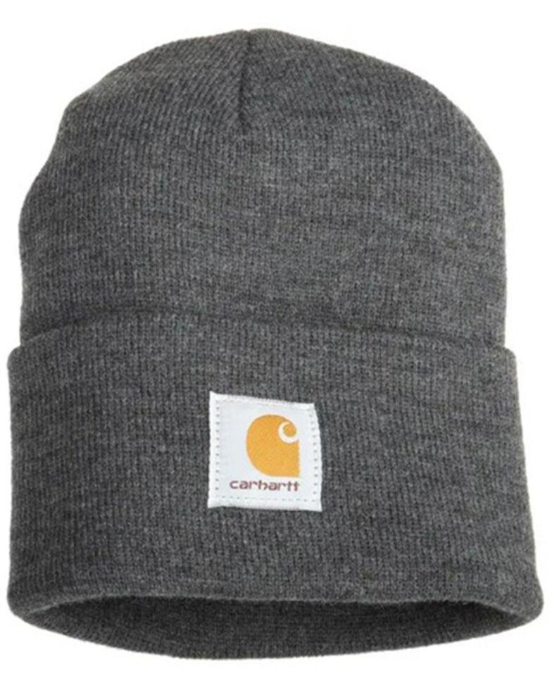 Carhartt Men's Carhartt Brown Watch Hat, Charcoal Grey, hi-res