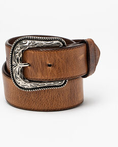 Cody James Men's Crazy Brown Billet Leather Buckle Belt , Brown, hi-res