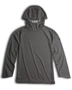 Walls Men's Dodson UPF 50+ Work Long Sleeve Hooded Work Shirt , Heather Grey, hi-res