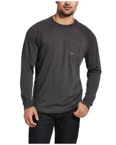 Ariat Men's Charcoal Rebar Graphic Roughneck Long Sleeve Work T-Shirt , Charcoal, hi-res