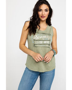 Idyllwind Women's Texas Bluebell Trustie Tank, Olive, hi-res