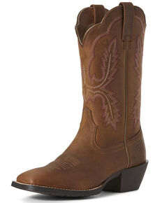 Ariat Women's Hybrid Rancher Western Boots - Wide Square Toe, Brown, hi-res