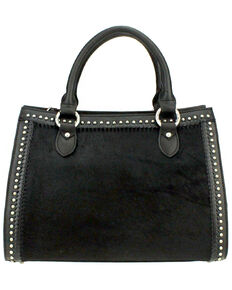 f6634e13a7 Montana West Delila Satchel 100% Genuine Leather Hair-On Hide Collection