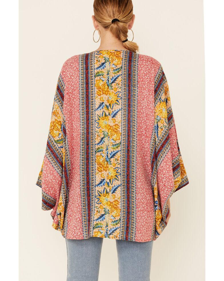 Band Of Gypsies Women's Multi Print Grace Kimono , Multi, hi-res