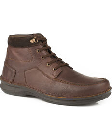 Roper Men's Brown Trevor Suede Collar Boots, Brown, hi-res