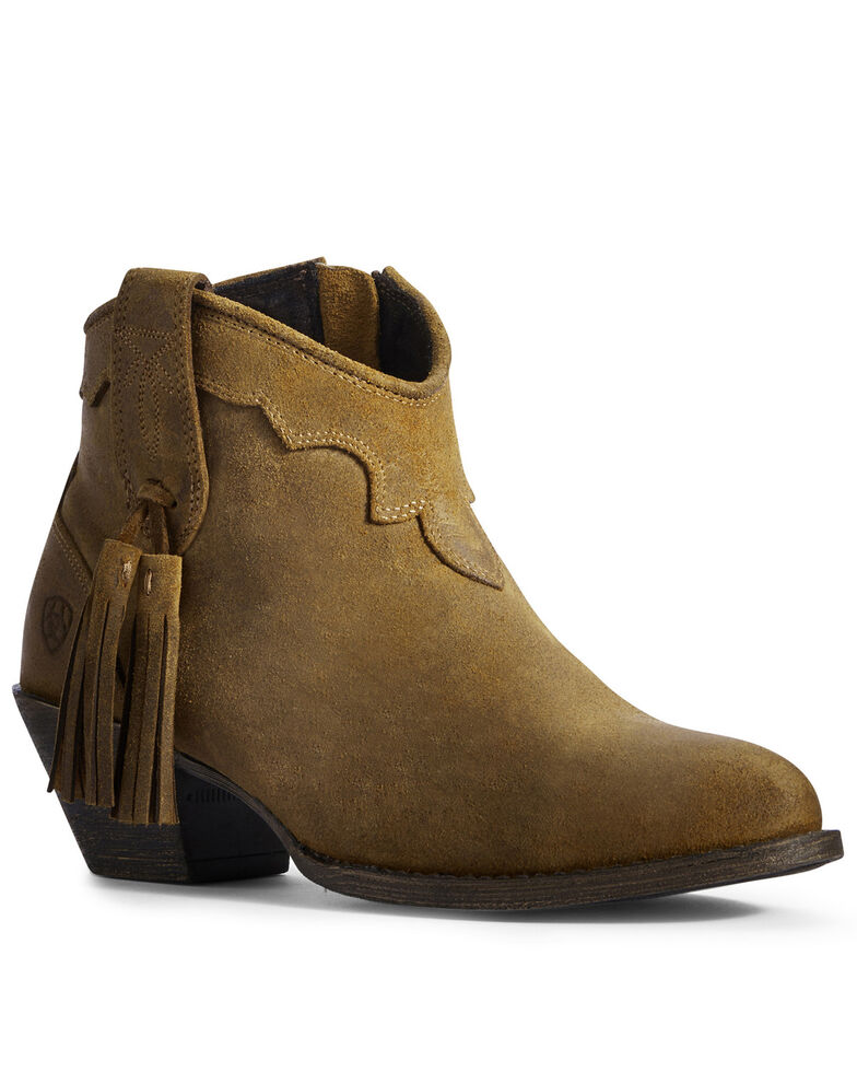 Ariat Women's Sepia Presley Fashion Booties - Round Toe, Brown, hi-res