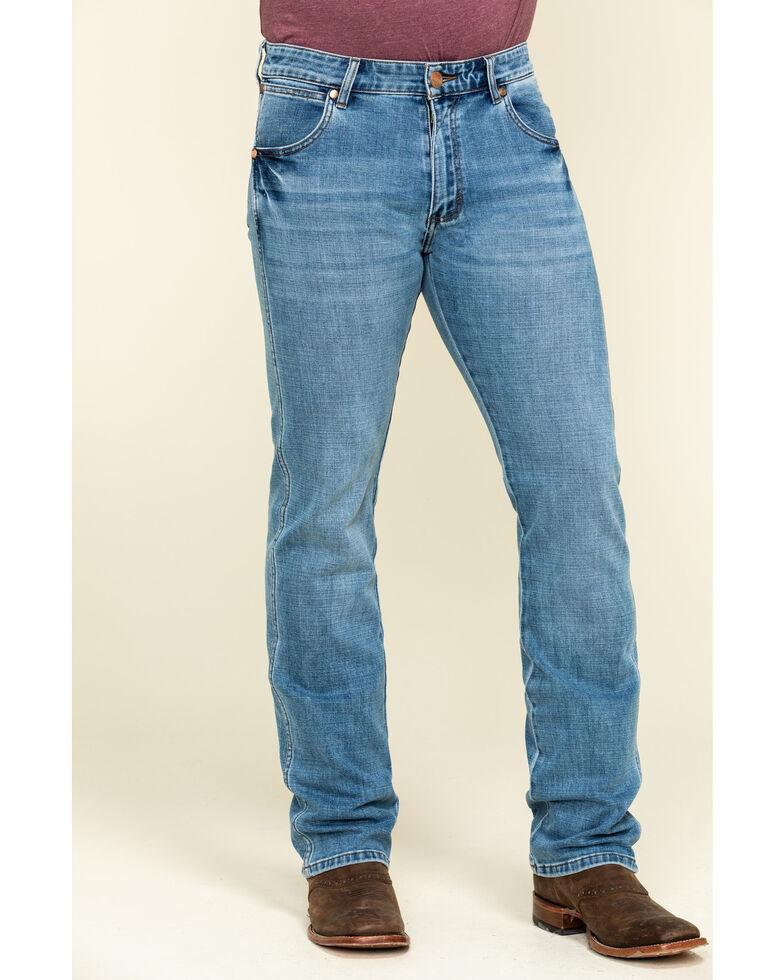 Wrangler Retro Men's Crofton Premium Stretch Light Boot Jeans , Blue, hi-res