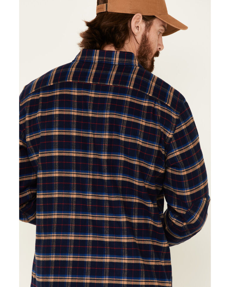 Pendleton Men's Navy Cascade Plaid Long Sleeve Western Flannel Shirt , Navy, hi-res