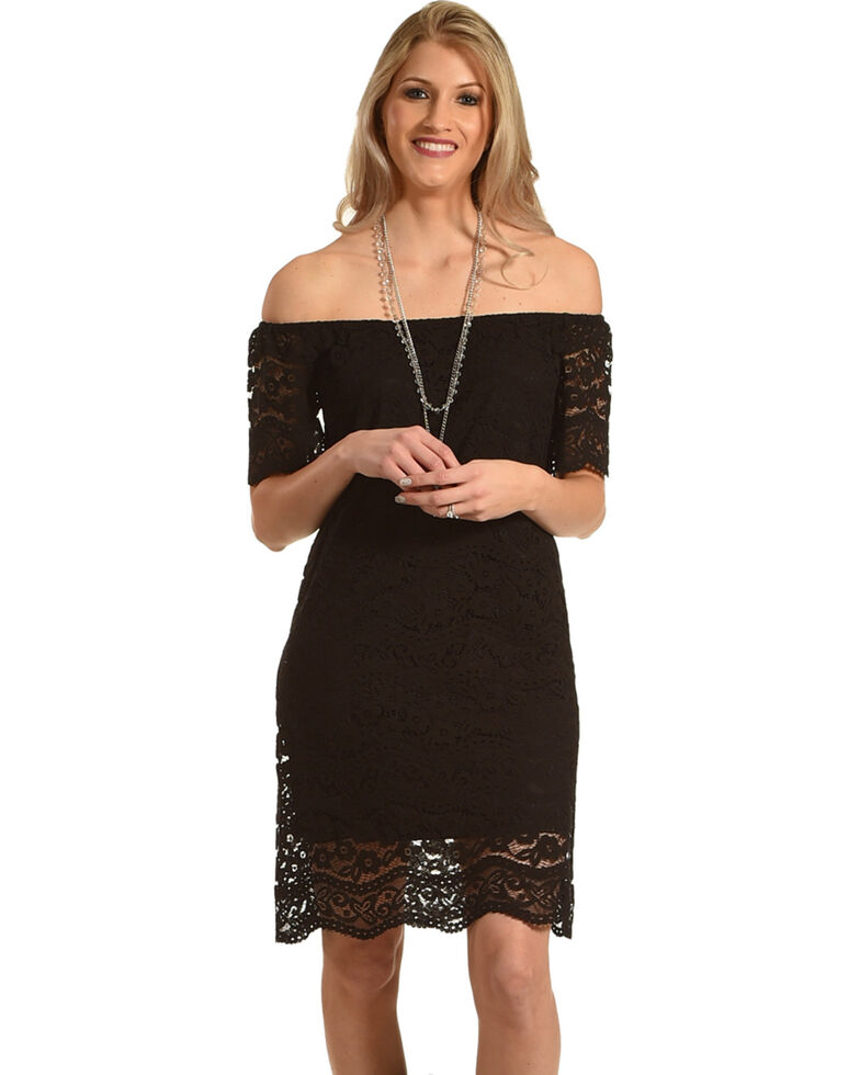 09b841be6309 Young Essence Women s Lace Off The Shoulder Dress - Country Outfitter
